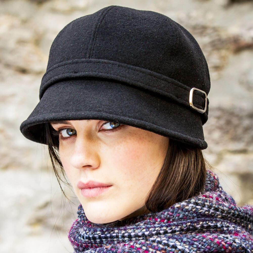 irish ladies black flapper hat irish caps usa